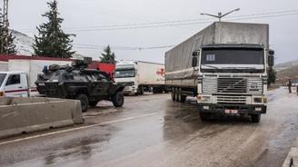 BM yardım TIR'ları Cilvegözü Sınır Kapısı'nda