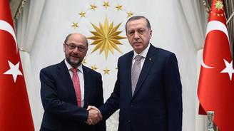 Cumhurbaşkanı Erdoğan, Schulz'u kabul etti