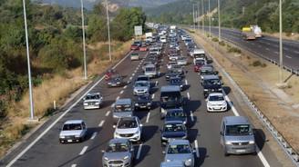 TEM'de bayram trafiği