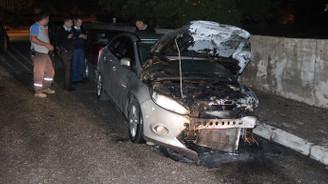 Bir saat içinde 7 araç yandı