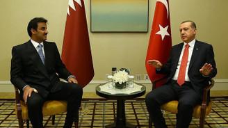 Erdoğan Katar Emiri Sani ile bir araya geldi