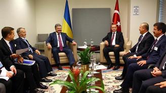 Erdoğan, Ruhani ve Poroşenko ile görüştü