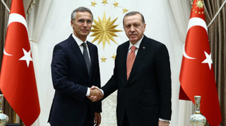 Erdoğan, Stoltenberg'i kabul etti.