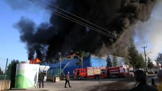 Mobilya fabrikasında yangın