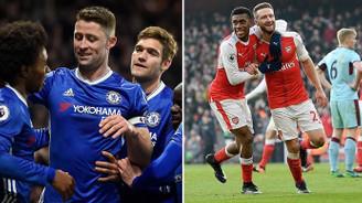 Chelsea ve Arsenal avantajı kaçırmadı