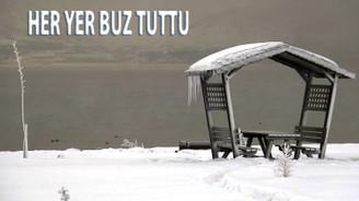 Tatvan'da her yer buz tuttu