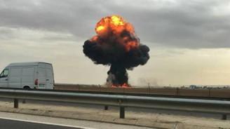 İspanya'da F18 savaş uçağı düştü
