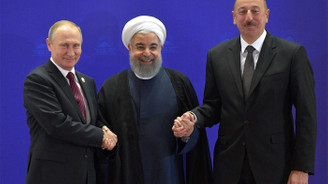 Rusya, İran ve Azerbaycan liderlerinden ortak basın toplantısı