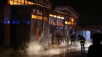 Eskişehir'de mobilya imalathanesinde yangın