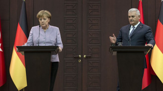 Merkel ve Yıldırım'dan basın toplantısı