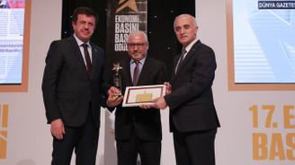 DÜNYA'ya 'Yılın Ekonomi Yayını' ödülü