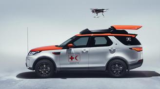 Land Rover'ın 'drone'lu aracı hayat kurtaracak