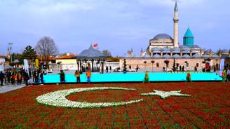 156 bin lale ile Türk bayrağı