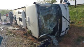 Konya'da otobüs devrildi: 20 yaralı