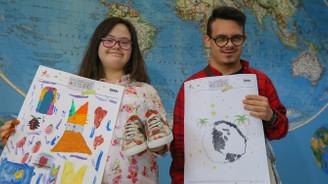Down sendromlu gençler tasarımlarını dünyaya satıyor