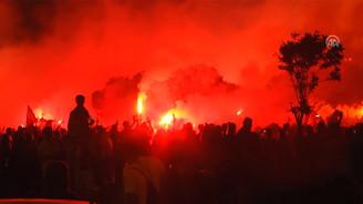 Göztepe taraftarlarında Süper Lig sevinci