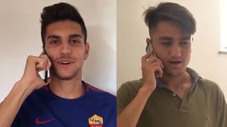 Roma'dan Cengiz Ünder'e ComeToRoma videosu