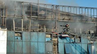 Tekirdağ'da fabrika yangını