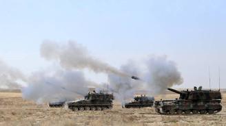 TSK'dan PYD hedeflerine topçu atışlarıyla karşılık