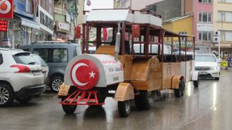 Hurda araçlarla Gezi Treni