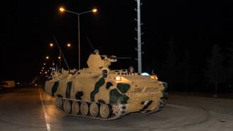 Takviye amaçlı gönderilen askeri araçlar Kilis'e ulaştı