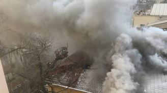Eski İtalyan Hastanesi'nde yangın