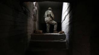 Teröristlerin 300 metrelik tüneli görüntüledi
