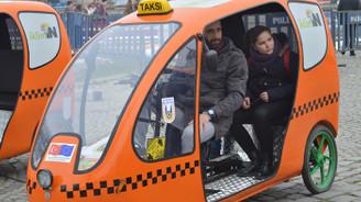 Çevreci Bisiklet taksiler ilgi odağı oldu