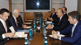 Çavuşoğlu ile Mistura Suriye'yi görüştü