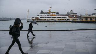İstanbul'da hava yağışlı