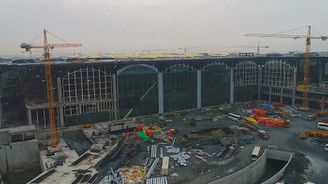 3. Havalimanı inşaatı havadan görüntülendi