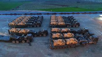 Afrin'e destek için gönderilen zırhlı araçlar Hatay'da