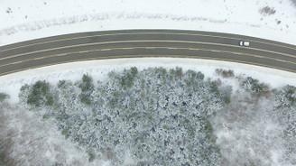 Kar yağışı sonrası Istrancalar beyaza büründü