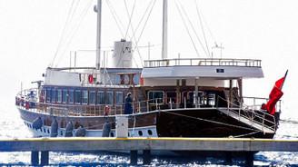 Yunanistan'ın el koyduğu yat Bodrum'a getirildi