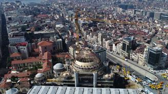 Taksim'deki yeni caminin çalışmaları devam ediyor