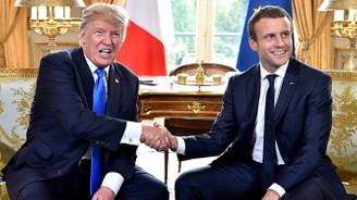 Trump, Macron ile telefonda görüştü