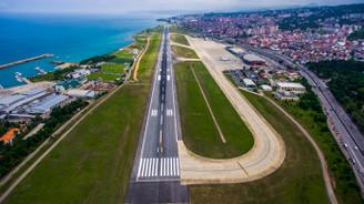 Trabzon Havalimanı'nda onarım çalışmaları başlatıldı