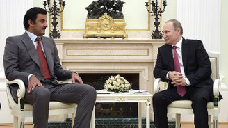 Katar Emiri Al Sani, Putin ile bir araya geldi