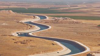 Bereketli topraklara Atatürk Barajı'ndan su verildi