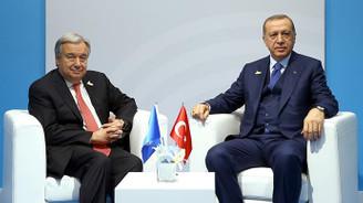 Erdoğan ile BM Genel Sekreteri Guterres görüştü