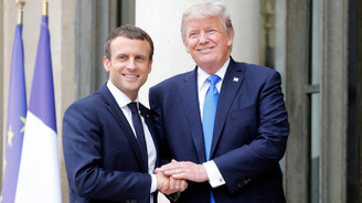 Trump ve Macron, Suriye'yi görüştü