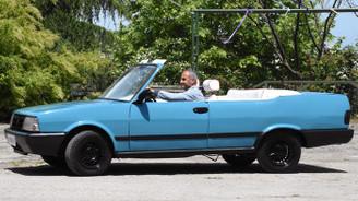 Hurda aracı spor otomobile dönüştürdüler
