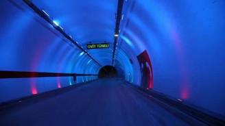 Dünyanın en uzun çift tüplü üçüncü tüneli Ovit açıldı