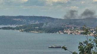 Beykoz'daki tarihi fabrikada yangın