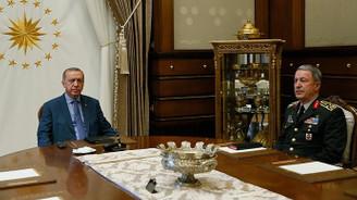 Cumhurbaşkanı Erdoğan, Akar ve Fidan'ı kabul etti