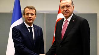 Erdoğan, Macron ile görüştü