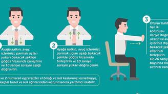 Sağlıklı yaşam için masa başı egzersizlerine 5 dakika ayırın