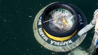 İDO yüzen çöp kutusunu tanıttı