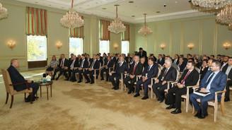 Erdoğan, Berlin'de Türk STK temsilcileriyle görüştü