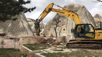 Peribacaları yakınındaki 15 yapı yıkılıyor